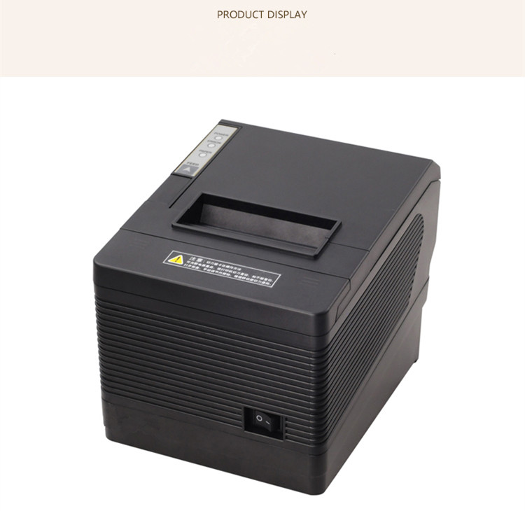 NEW 80mm receipt POS printer Automatic cutter bill Thermal printer USB Ethernet Serial Three ports are integrated in one printer in Printers from Computer Office