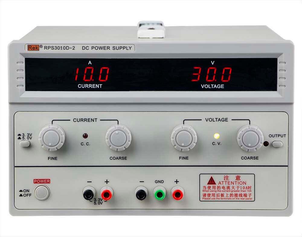 REK RPS3010D 2 DC power supply 30V10A with 5V1A / 3V1A fixed output 110V/220V