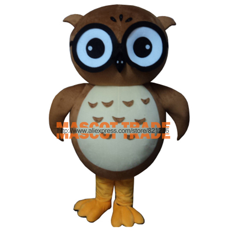 High quality Adult Owl Mascot Costume + Free shipping