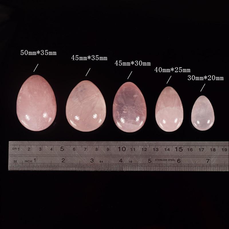 Perforado Huevo de jade Natural Rosa Cuarzo Yoni Huevo Esfera de - Cuidado de la salud - foto 6
