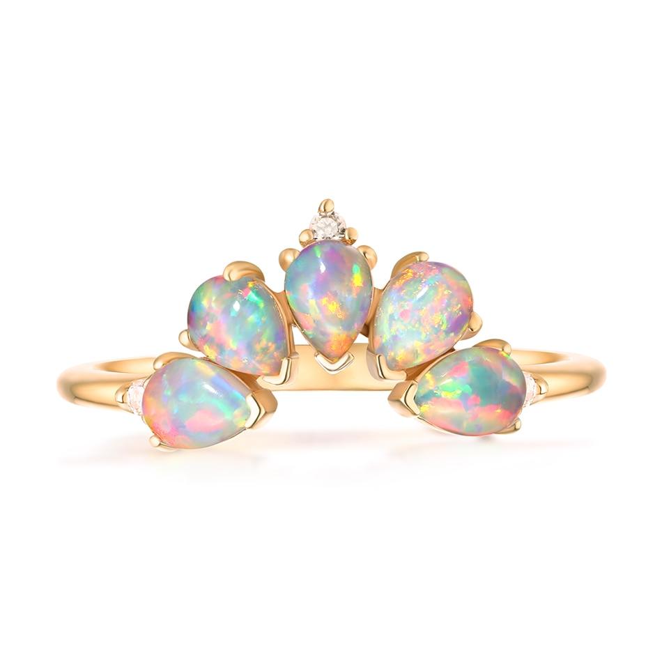 ALLNOEL 2019 Real 925 Sterling Silver Ring For Women 100% Natural Rose Quartz Blue Topaz Labradorite Gemstone Stack Fine Jewelry (4)