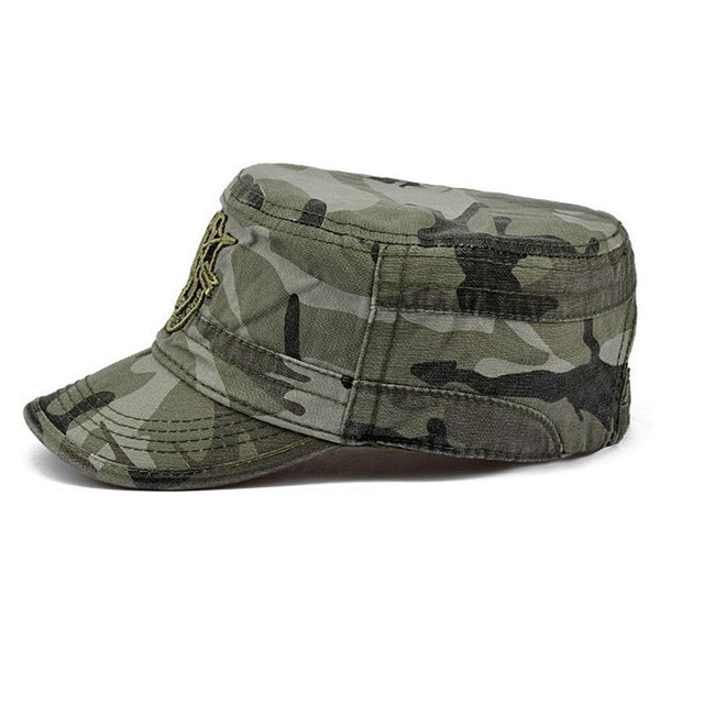 US Army Cap Military Tactical Caps US Army Flat Cap Camouflage Casual Gorras Outdoor Work Cap Adjustable Casual Snapbacks Hat