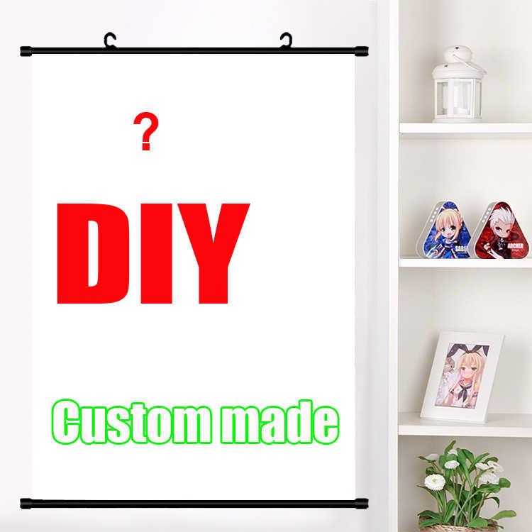 รูปภาพของคุณที่ชื่นชอบ Photo DIY custom made อะนิเมะ Wall Scroll Mural โปสเตอร์แขวนผนังโปสเตอร์ตกแต่งบ้านของขวัญ Drop shipping