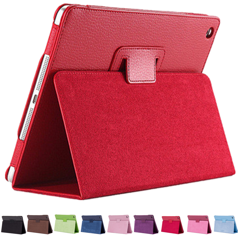 PU Leather For Apple iPad Mini 1 2 3 Smart Case Litchi Pattern Flip Matte Cover For iPad mini mini 2 mini 3 With Stander holder j2000 nvr16 v 4