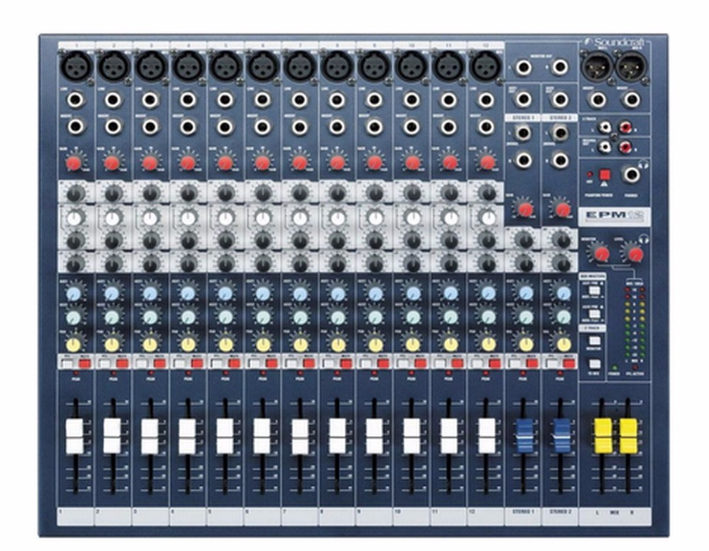 SoundCraft Professional Console Mixer EPM12 12 Channel Mixing Console DJ karaoke music Power Mixer каталки pilsan bunny friend