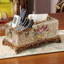 multifunctional hand drawn paper towel box European luxury home living room coffee table storage box