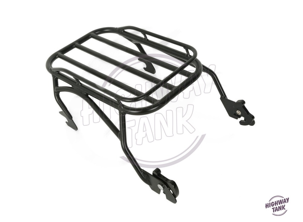 Motorcycle Solo Luggage Mounting Rack Moto Rear decoration case for Harley Road King Custom Classic FLHR 1997-2008
