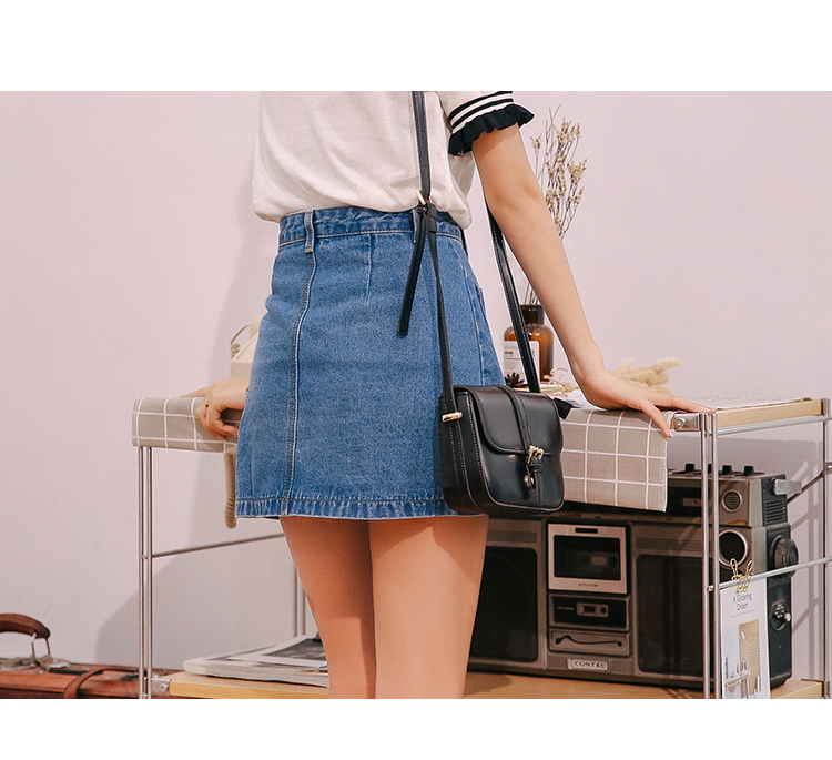 Denim mini skirts online
