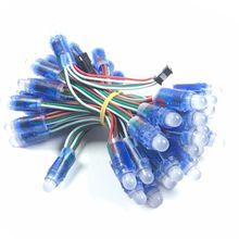 Cantidad opcional WS2811 Módulo de píxeles LED 12mm IP68 a prueba de agua DC 5V Color completo RGB cuerda Navidad LED luz envío rápido