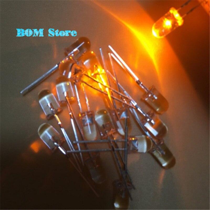 100 GIALLO LAMPEGGIANTE LED 5mm FLASH LED GIALLO YELLOW