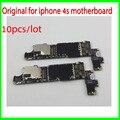 10 pçs/lote para iphone 4s motherboard. original desbloqueado 16 gb para iphone 4s celular placas, placa mãe frete grátis, bom trabalhando