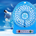 Portable Rechargeable Summer Air Cooler USB 18650 Battery Powered Mini Desk Fan
