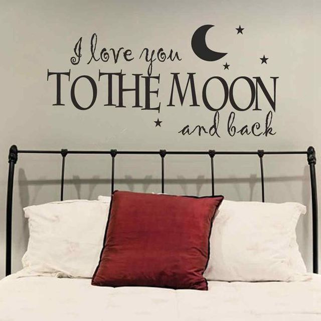 Battoo Master Bedroom Wall Quotes Decals I Love You To The Moon And Back