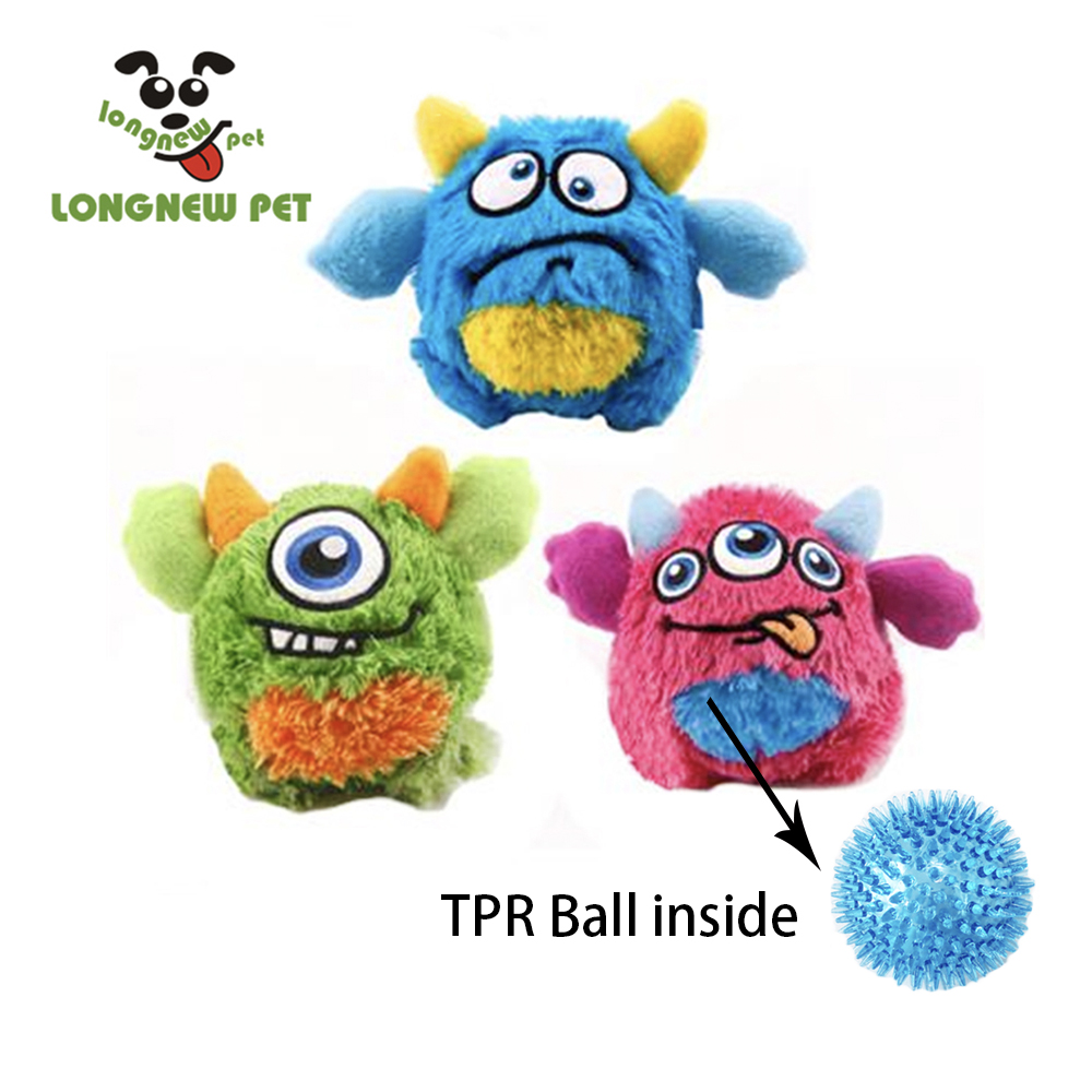 Monster Dog Toy With Tpr Spiky Ball Inside Sound Funny -3981