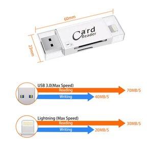 Image 2 - USB 3.0 雷カードリーダー OTG フラッシュドライブ microSD TF カードメモリカードリーダーアダプタ iphone 5 5s 6 7 8 × S6 S7 エッジ