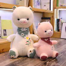 New Plush Alpaca Toys Lovely Appease Doll Dressing Decor Baby For Children Kids birthday Gift