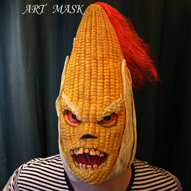 Aliexpress.com : Buy Halloween full Face Scary Burn Corn Mask for ...