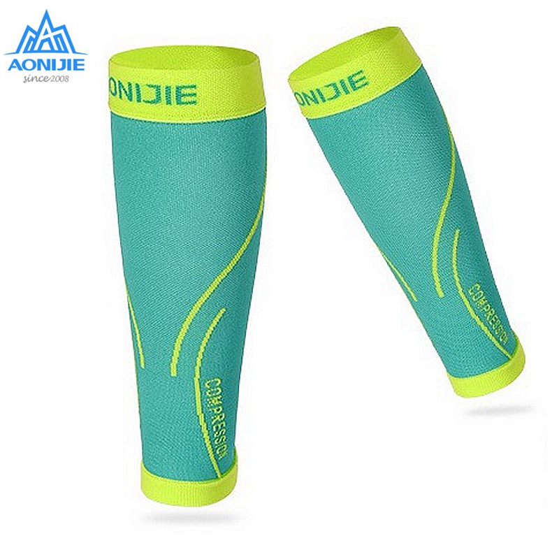 AONIJIE 1Pair Leggings Protective Sports Compression Calf Sleeve Safety Breathable Warm Running Hiking E4068 E4405