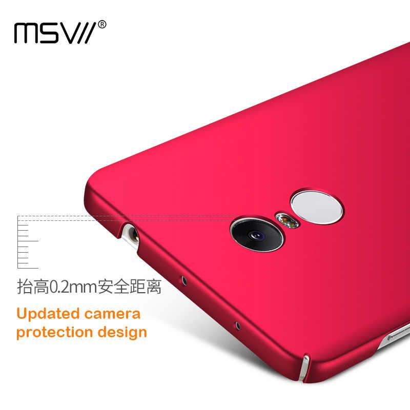 MSVII бренд класса люкс картина маслом чехол для Xiaomi Redmi Note 4 (только китайская версия) Pro/Prime Гладкий/матовый чехол для ПК оболочки