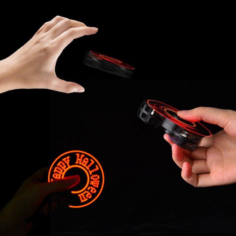 Led volante della fidget spinner luce drone cubo elettronico anti-stress relief giocattoli per i bambini bambini giocattolo boy regalo di Natale Di Halloween