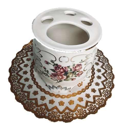 5 sztuk/zestaw zestawy akcesoriów łazienkowych ceramika żywica brukowiec projekt butelka lateksowa zębów mydło ze szkła uchwyt na szczoteczkę do zębów wystrój domu
