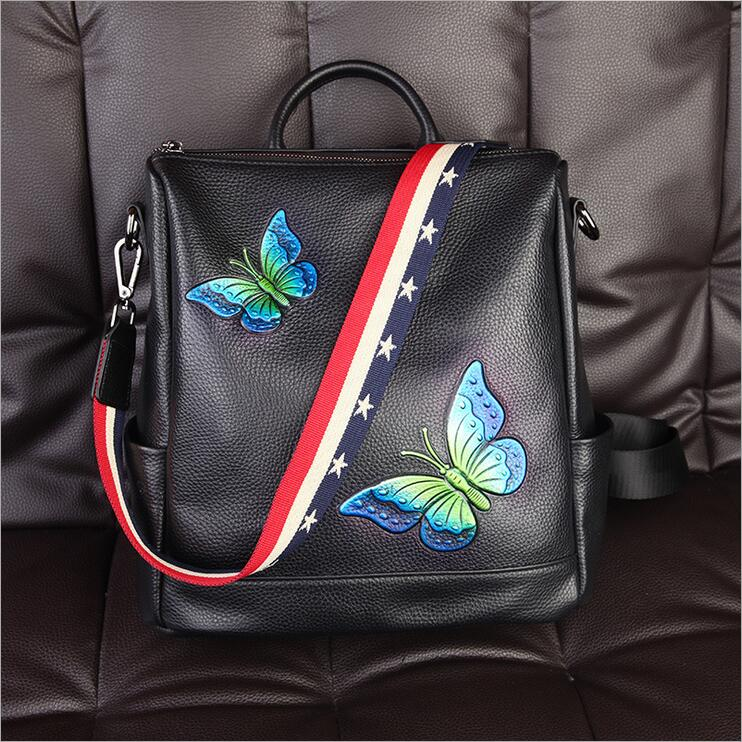 2017 Backpack Women Genuine Leather Bag Women Bag Small Women Backpack Mochila School Bags for Teenagers free shipping miwind new backpack women school bags for teenagers mochila feminina women bag free shipping leather bags women leather backpack