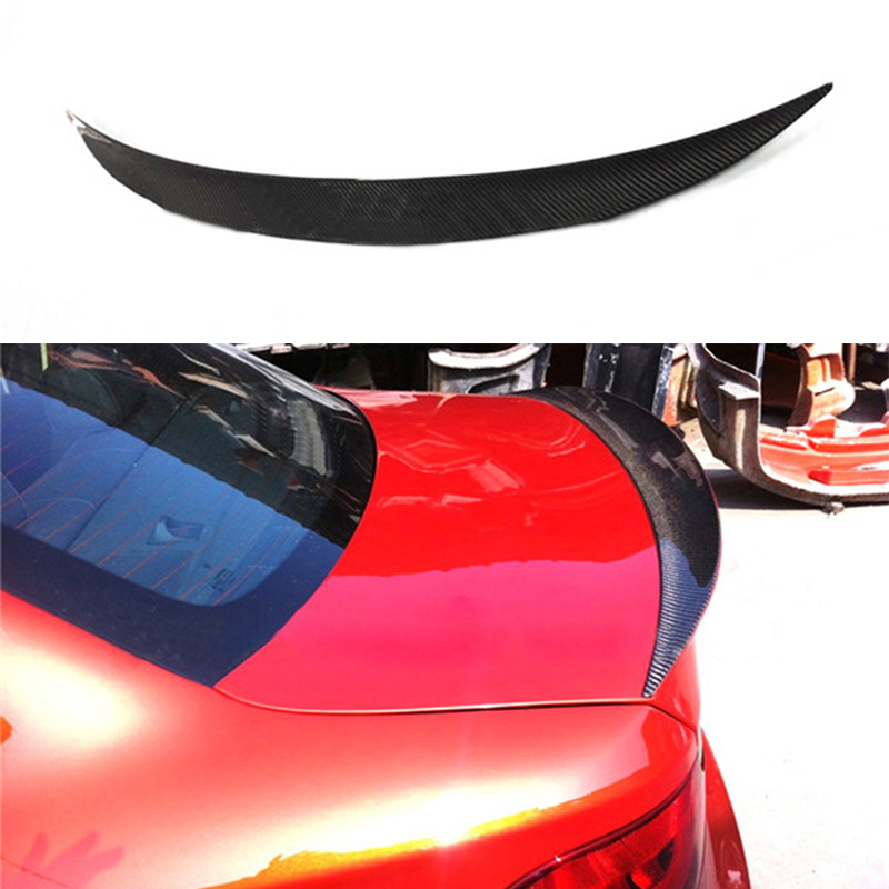 Car-Styling RZ style E82 Carbon Fiber Rear trunk Spoiler For BMW E82 1m Coupe Tail Trunk Lip Wing 2011~2013