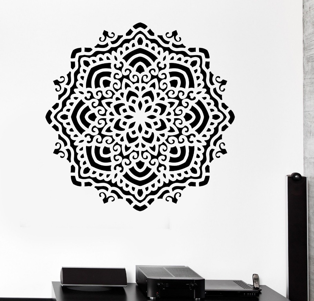 Black And White Wall Decals popular buddha wall decal-buy cheap buddha wall decal lots from