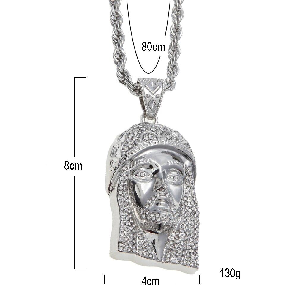 Aliexpress.com : Buy Gold Color JESUS Christ Piece Head Face Hip Hop ...