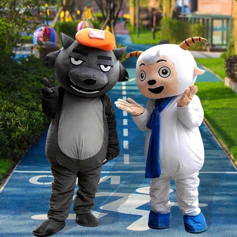 Mouton mascotte Costume costumes Cosplay partie jeu robe tenues vêtements publicité carnaval Halloween noël pâques Festival adultes - 2