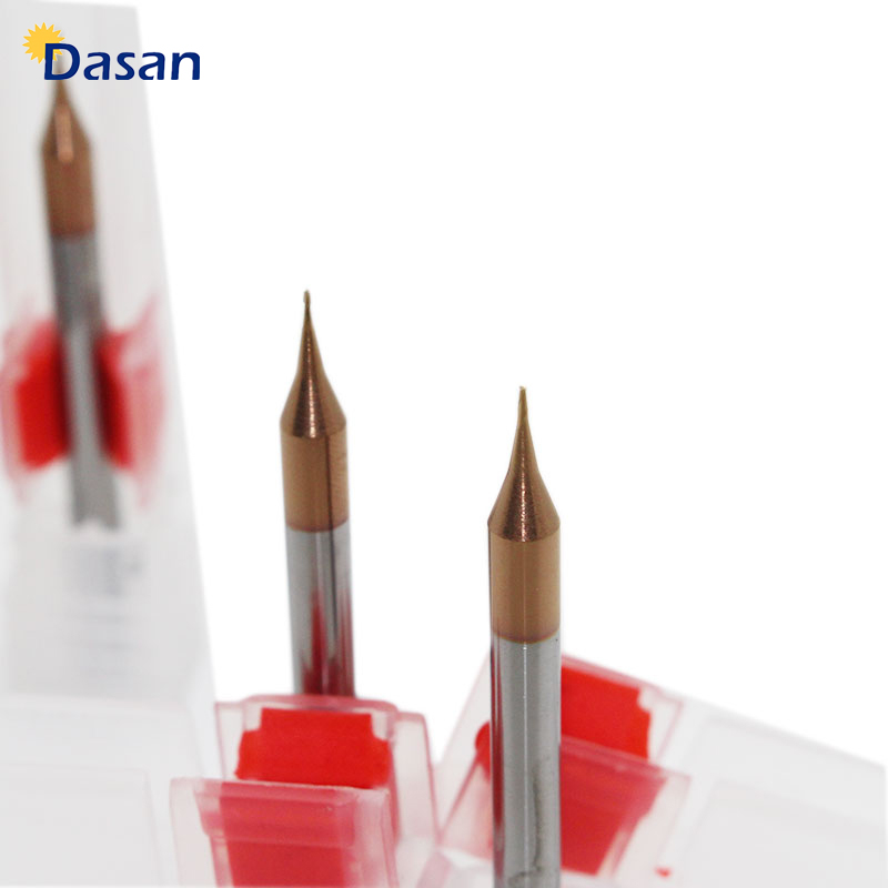 1pc Micro End Mill 0.2mm 0.3mm 0.4 To 0.9mm 2 Flutes HRC60 Carbide Flat Square CNC Milling Cutters Sprial Router Bitsfree Ship