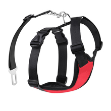 Dog Harnesses Vests Chest For Dog Collars And harnesses Pet Puppy Collar Adjustable Soft Comfort Pet Products With Seat Belt