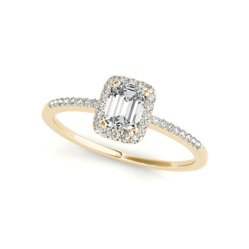 LESF Vintage bague de mariage pour les femmes magnifique carré coupe blanc CZ 925 en argent Sterling Vintage bague de fiançailles en gros - 5