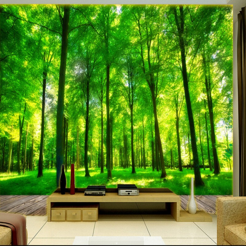Aliexpress.com : Buy Beibehang 3D Photo Wallpaper Natural Forest Mural  Bedroom Living Room TV Background Wallpaper For Walls 3 D Papel De Parede  From ...