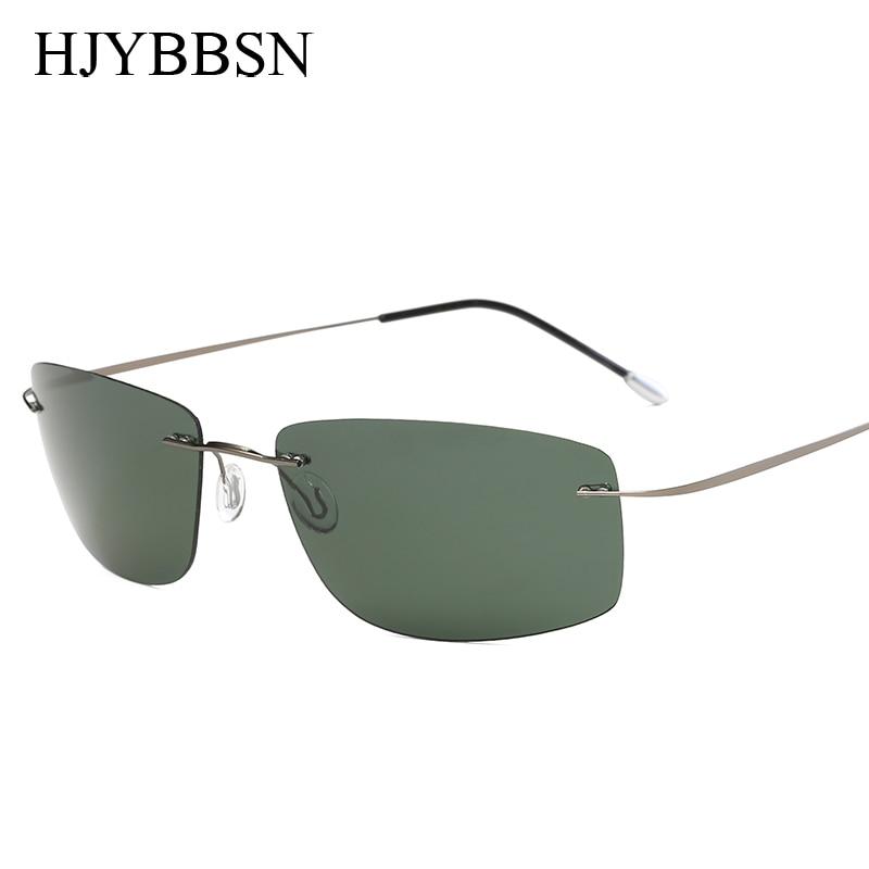 With case Polarized Titanium Silhouette sunglasses Polaroid Brand Designer Gafas Men Square Sun glasses sunglasses for men women