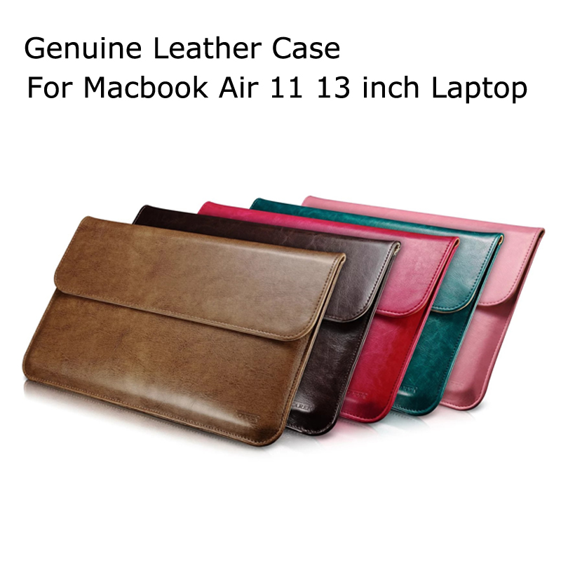 Luxury Genuine PU Leather Case For Macbook Air 11 13 Laptop Sleeve Pouch Bag For Macbook 13.3 inch Business Cover Funda jisoncase laptop sleeve case for macbook air 13 12 11 case genuine leather laptop bag unisex pouch for macbook pro 13 inch cover