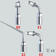 Neue 4Pcs / lot Ultraschall Zahnsteinentferner Tipps E0, E1, E2, E3 Kompatibel mit EMS / WOODPECKER Zahnaufhellung Dental Equipment