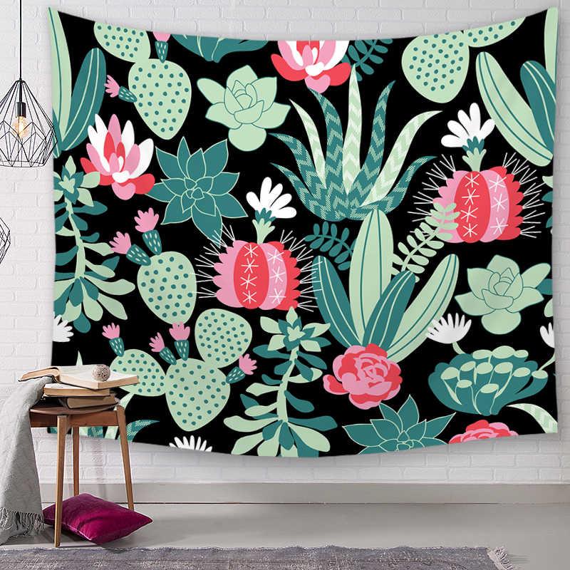פרח תליית קיר שטיחי המנדלה בוהמי מארג נוף טפט קיר אמנות צעיף לזרוק
