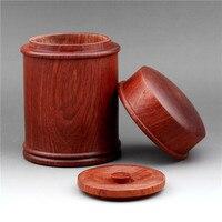 Myanmar flower pear tea pot high grade mahogany tea box solid wood tea barrel natural vintage tea set accessories