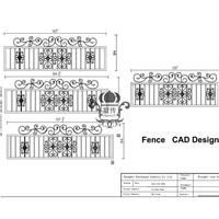 Хэнч сад железный забор 8' x5' черный простой стиль декоративные стальной забор кованого железа Hc f71