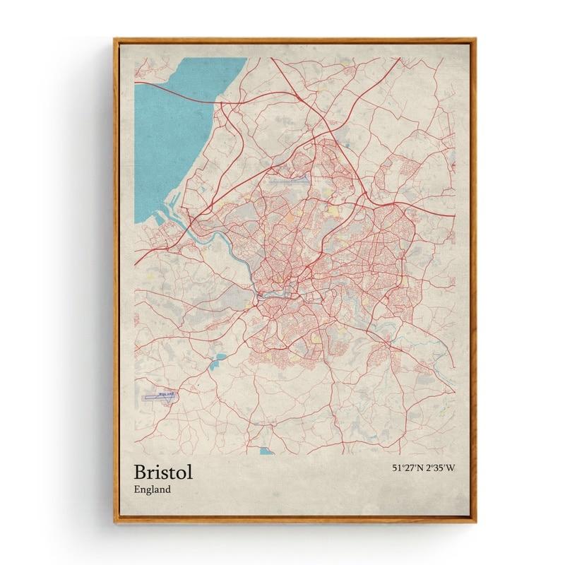 World City Map Brest France Brighton England Bristol England Living
