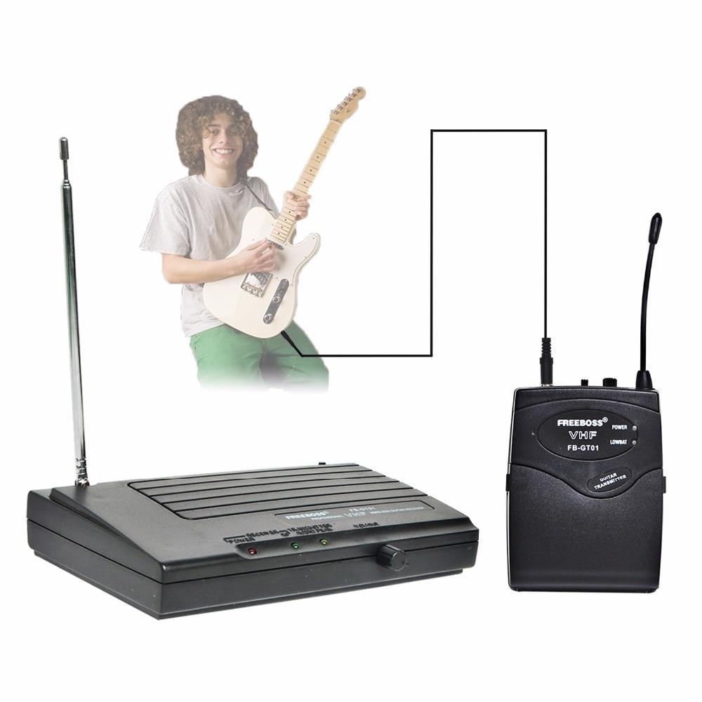 Freeboss FB-GT01 VHF Sans Fil Guitare Microphone