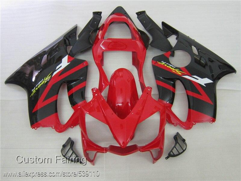 Injection Molding Fairing Kit For Honda CBR600 F4I 01 02 03 Red Black Fairings Set CBR600