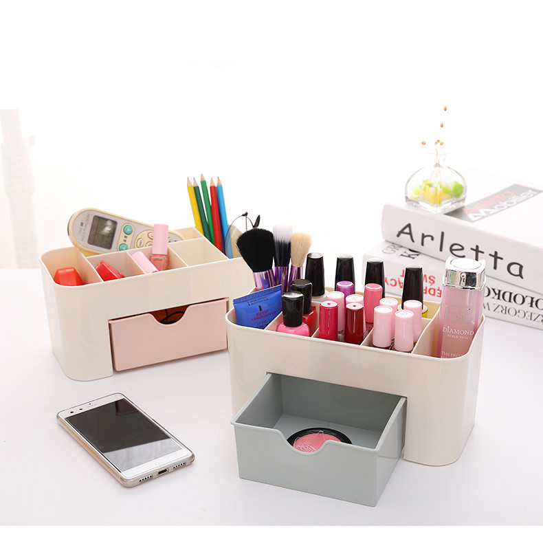 1PC 3 Colors Makeup Storage Box Cosmetic case Lipstick Cases Sundries Case Small Objects Box Desktop Organizer OK 0543