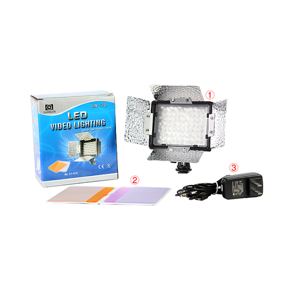 NanGuang CN-70 On camera LED video light with barndoors for photo and video for canon nikon sony camera mini 5 5mm camera diameter dust proof and waterproof recordable video adjustable led lights video and photo browsing