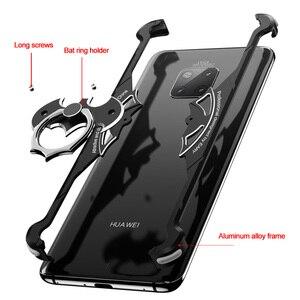 Image 4 - Металлический чехол OATSBASF в форме летучей мыши для Huawei p30, чехол 6,1 дюйма, индивидуальный металлический бампер с подушкой безопасности для Huawei P30 Pro 6,47 дюйма