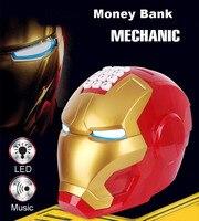 Electric Automatic Piggy Bank with music Mechanic Money Roller Iron Man ATM Cash Tank Creative Children's Gift Money Storage