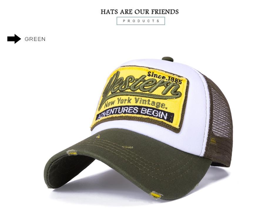 2018 nueva verano gorra de béisbol Bordado malla Cap sombreros para ...