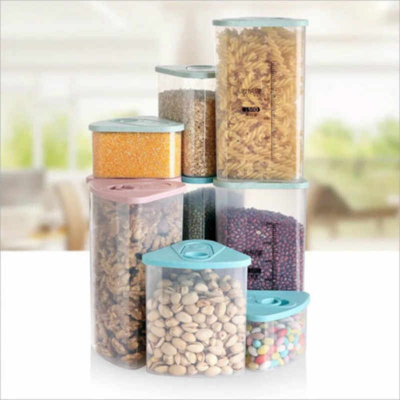 New Plastic Kitchen Food Cereal Grain Bean Rice Storage Box Container Box Cases