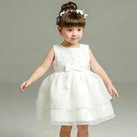 1 Year Old Baby Girl Dress Beige Princess Wedding Birthday Formal Vestido 2016 Toddler Baby Clothes